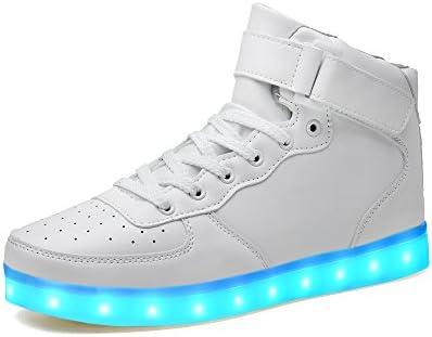 LeKuni LED Shoes Upgraded Light Up System 7 Colors Light Up Low Top Trainner for Boys,Girls,Man,Women / UK