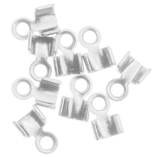 [해외]가죽, 2.5mm,은을위한 코드 끝의 Beadaholique 50- 단편 접기/Beadaholique 50-Piece Short Fold Over Cord Ends for Leather, 2.5mm, Silver
