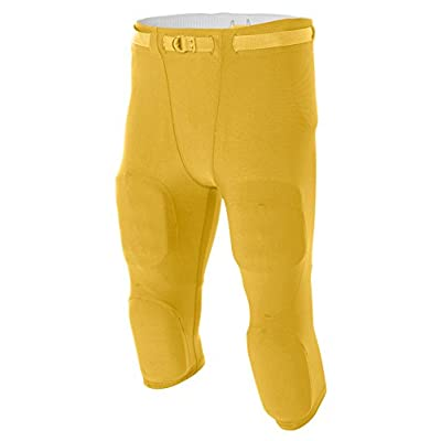New A4 Men'S Flyless Football Pant, Gold - L for sale