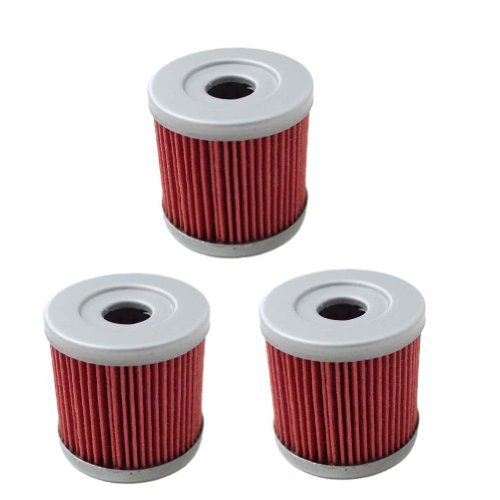 New Pack of 3 Oil Filter for Suzuki Z400 LTZ400 LT-Z400 Z LTZ 400 LTR450 LT-R450 LTR 450 DRZ400 Kawasaki KFX400 KFX 400 Artic Cat DVX400 DVX 400 Replace HF139 & KN139