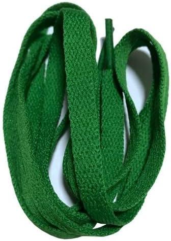 XJYWJ ワイドスニーカースポーツシューズフラット靴ひも靴ひもの8ミリメートル24色80センチメートル/ 100センチメートル/ 120センチメートル/ 140センチメートル/ 160センチメートル (Color : No 19 green, Size : 80cm)