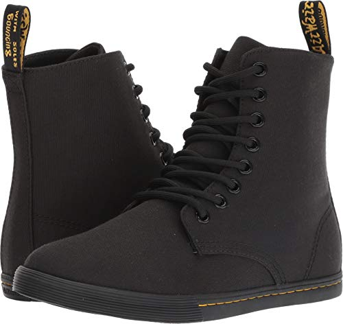 Dr. Martens - Unisex-Child Sheridan Y Youth 8 Eye Boot, Size: 5 M US Big Kid / 4 F(M) UK Youth, Color: Black T Canvas ()