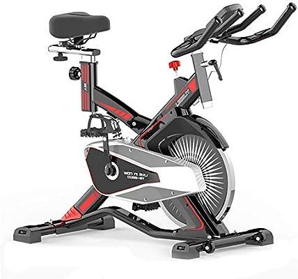 Bicicleta Spinning Profesional,Bicicleta Estatica LCD Multifunción Electronica Sensor de Frecuencia Cardiaca,Resistencia Variable Asiento Manillar Ajustables Bici Spinning Máxima de Carga 150kg: Amazon.es: Deportes y aire libre