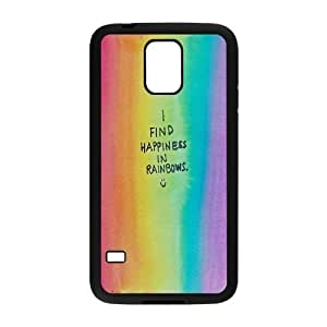 MENGYANX Phone case - Custom Rainbow And Glaring Color Proctive Case Protective Case For Samsung Galaxy S5 CASE-19