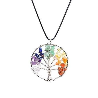 Celtic Chakra Baum des Lebens Heilung Kristall Halskette Anhänger ...
