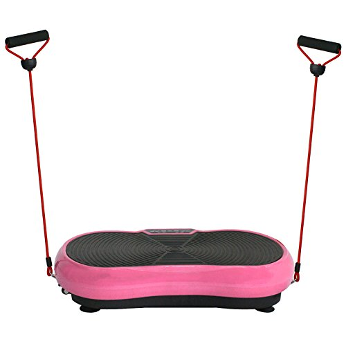 SUPER DEAL Crazy Work Out Fit Full Body Vibration Platform Massage Machine Fitness W/Bluetooth, Pink by SUPER DEAL (Image #7)