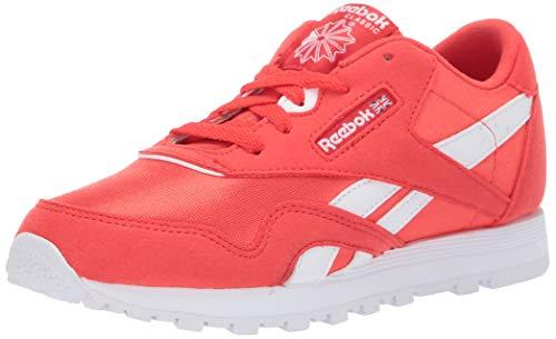 Reebok Boys' Classic Nylon Sneaker, Canton RED/White, 13 M US Little Kid