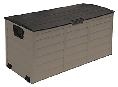 Starplast Deck Box, 60 Gallon, Mocha/Brown