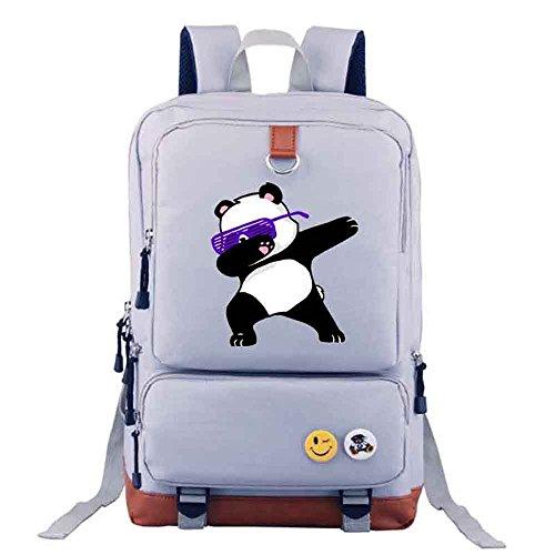 Rucksacks Panda Shoulder Bags Student Gray Dabbing backpack men Funny travel School Bag girl Dab 7vwqcdcg1