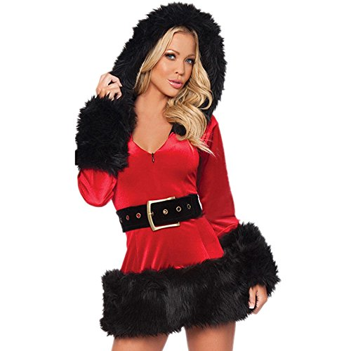Skylin Womens Cosplay Christmas Dress Costume Mrs Santa