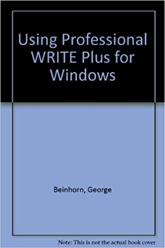 Forum per il download di libri Using Professional Write Plus for Windows by George Beinhorn in italiano PDF PDB