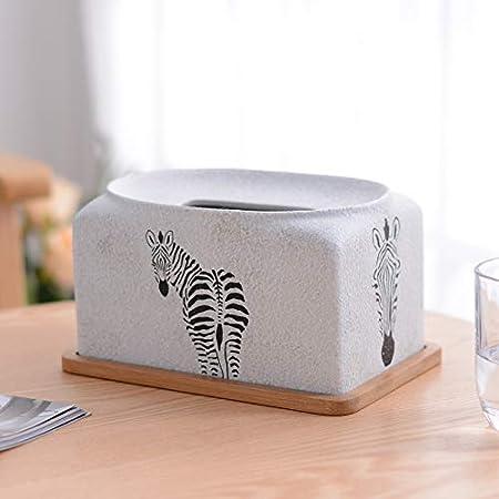 ZHIJING Caja de pañuelos Resina Resina Caja De Pañuelos Faciales Portapapeles para El Baño Oficina En Casa Coche Kleenex Papel Estándar Y Kleenex E-20 * 13 * 11cm: Amazon.es: Hogar