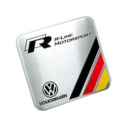 Volkswagen Golf Emblem - Metal R-LINE MOTORSPORT Germany Flag Badge Emblem for Volkswagen VW Golf Passat