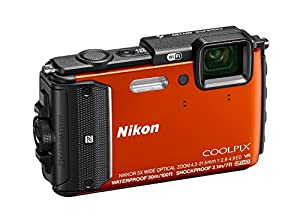 Nikon Coolpix AW130 16MP Waterproof Shockproof Digital Camera (Orange)(Certified Refurbished) by Nikon