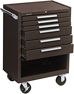 """product image for Kennedy Manufacturing 376XB Kennedy Brown Industrial, Heavy Duty Series, Rolling Cabinet, 27"""" x 18"""" x 39"""", 6 Drawers, 39"""" Height, 27"""" Width, 1400 Pounds Load Capacity"""