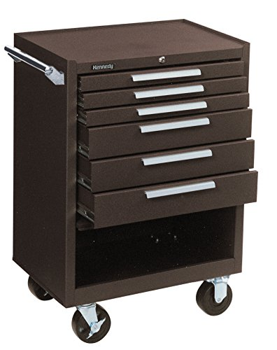Kennedy Manufacturing 378Xb 27'' 8-Drawer Industrial Tool Storage Roller Cabinet With Chest And Wheels, Tan Brown Wrinkle by Kennedy Manufacturing