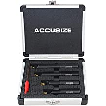 """Accusize - 1/2"""", 0.5in., Round Shank, 90 Degree, Indexable Boring Bar Set, #2627-9104"""