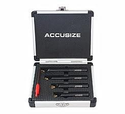 Accusize Industrial Tools 4 Pc 1/2'' Rou...