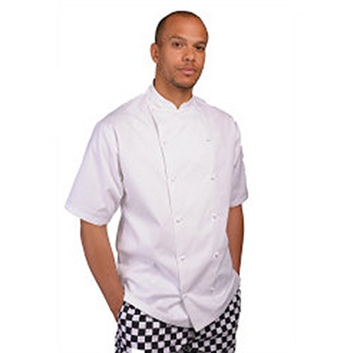 Jacket Chefs Executive (Le Chef Mens Executive Short Sleeve Chefs Jacket (S) (Snow))
