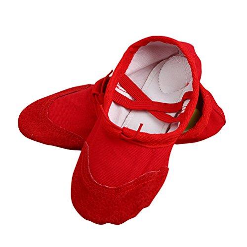 Oudan, Mädchen Tanzschuhe Rot