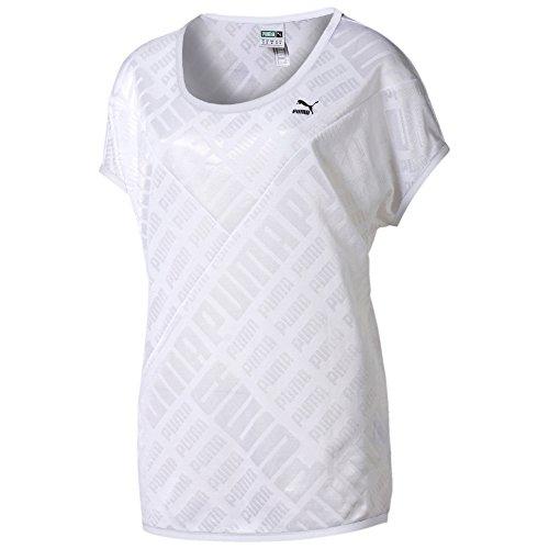 Puma Camiseta de mujer Jacquard té White - white