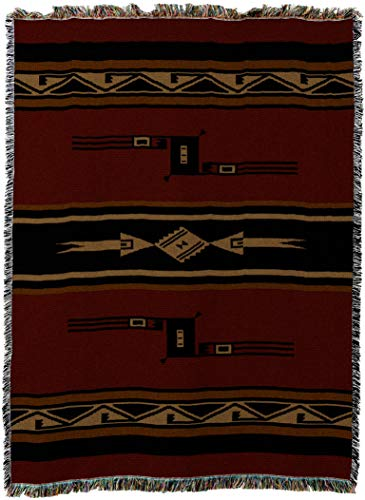 - Pure Country Weavers - Mesquite Earth Southwest Geometric Woven Tapestry Throw Blanket with Fringe Cotton USA Size 69x48