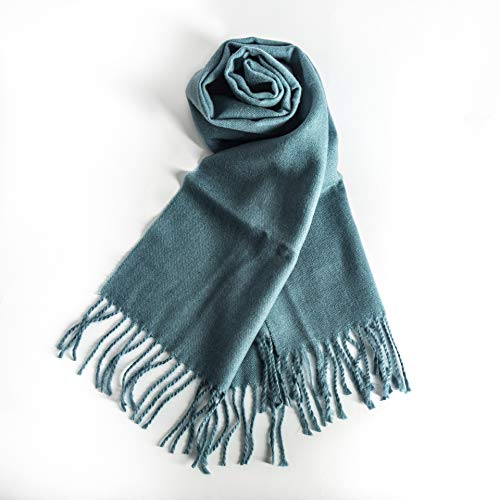 (KÖLN Cashmere Wool Scarf for Woman and Men - Premium Quality 100% Pashmina Cashmere, Unisex Design - Teal Green)