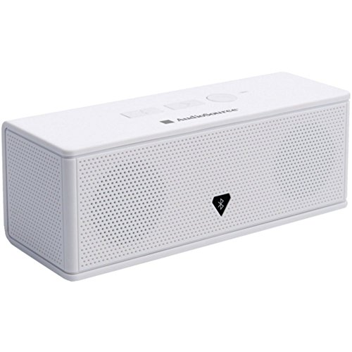 AUDIOSOURCE MD213W Portable Bluetooth(R) Stereo Speaker & Speakerphone (White) Electronic Accessories