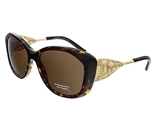 Burberry Women's 0BE4208Q Dark Tortoise/Gold/Brown Sunglasses Burberry Brown Tortoise Sunglasses