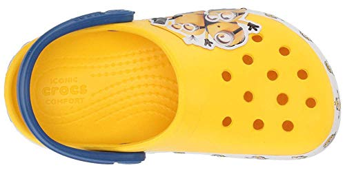 Crocs Kids' Fun Lab Minions Multi Clog, Yellow, 5 M US Toddler
