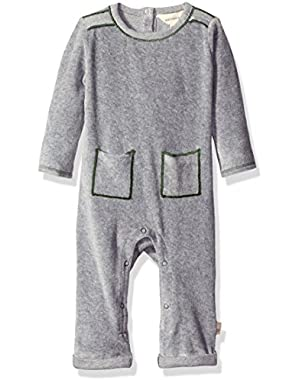 Boys' Organic Velour Coverall