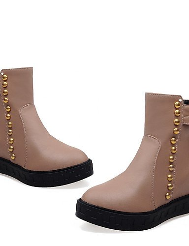 Marrón Mujer Beige Eu37 Negro Brown Botas Eu42 Cn43 5 5 Redonda Uk8 5 Vestido Botines Zapatos Semicuero Xzz 5 5 us6 Uk4 Cn37 Plataforma Blanco 7 De us10 Punta Almond q4OPwAEx