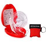 EYLEER Portable CPR Pocket Mask Resuscitator with One-Way Breath Valve for First Aid Training Emergency Rescue