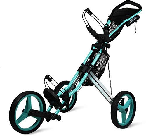 Sun Mountain Golf 2019 Speed Cart GX 3 Wheel Push Cart (Bahama/Steel Gray)