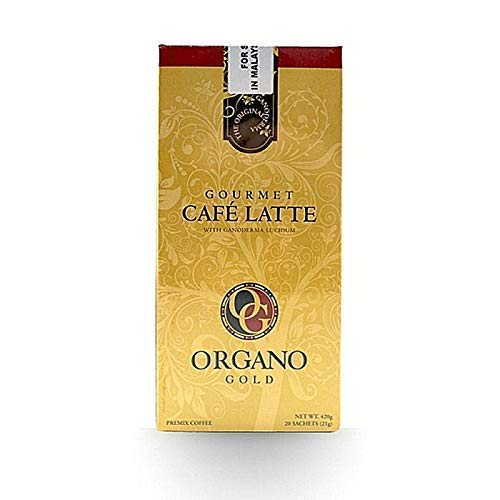 8 Boxes Organo Gold Gourmet Cafe Latte with 100% Organic Ganoderma Lucidum Extract - HOS by Organo Gold (Image #1)