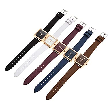 Amazon.com: Womens Girls Fashion Watch Leather Strap Analog Quartz Glass Mirror Watches (Dark Blue): Cell Phones & Accessories