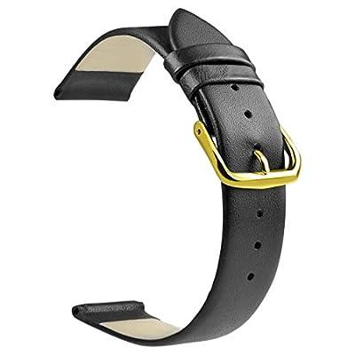 ZLIMSN Soft Genuine Leather Watch Band 18mm 20mm 22mm Brown Black Smooth Thin Full Grains Strap from ZLIMSN