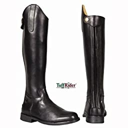 TuffRider Children\'s Baroque Dress Boots, Black, 3 Slim Regular
