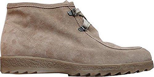 Boots bottines de rayon en cuir-couleur : sable - Marron - Sable, 41