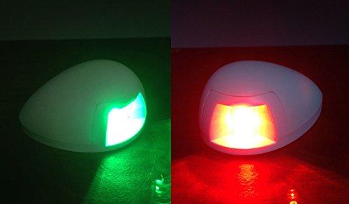MARINE BOAT GREEN STARBOARD RED PORTSIDE LED NAVIGATION LIGHT HORIZONTAL (Led Starboard)