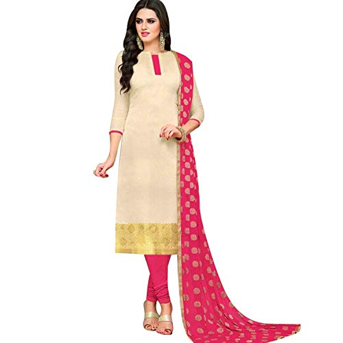 Ladyline Banarasi Silk Salwar Kameez Partywear Formal Womens Dress Ready to wear Indian Pakistani Salwar - Salwar Suit Cotton