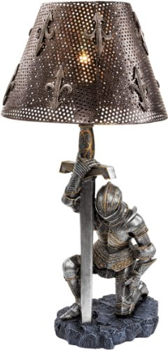 22' Gothic Medieval Knight Sculpture Lamp - Set of 2