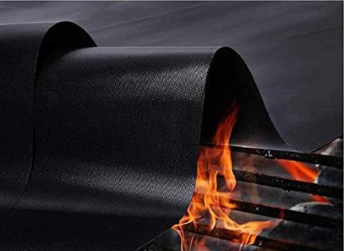 Aexit Tapis de Cuisson Tapis BBQ Barbecue Plaque Feuille de Cuisson Four pour Barbecue gaz Charbon électrique 100% Anti-adhérent 2Pcs