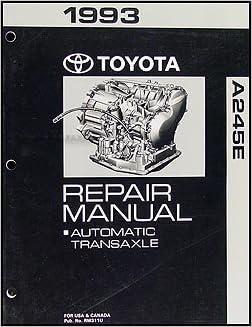 1993 Toyota Corolla 4 Speed Automatic Transmission Repair