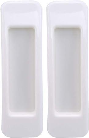 Buelgma - Tirador de Puerta corrediza Autoadhesivo, Rectangular, Ventana, cajón, Botones y Mango, protección para la decoración del hogar, Blanco, L * W * H: 10.9 * 3.1 * 1.4cm: Amazon.es: Hogar