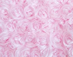 Camera Photo Floor Prop Faux Fur Artificial Fur, Newborn Baby Photography Props, Basket Stuffer Blanket - Baby Props, Basket Fabric (Pink Rosette)