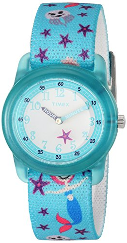Timex Girls TW7C13700 Time Machines Teal Sea Elastic Fabric Strap Watch