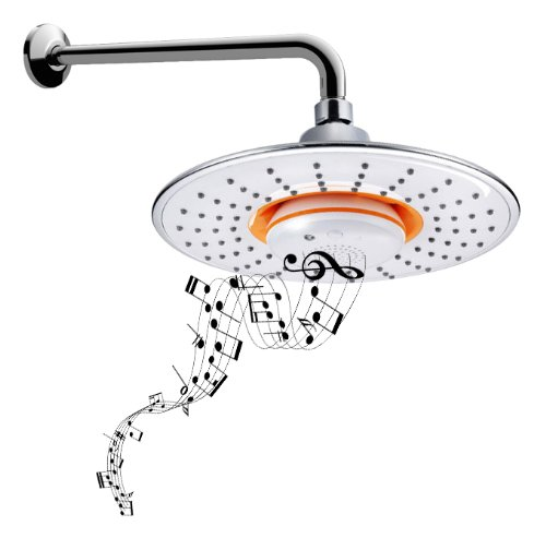 Shower heads with Bluetooth speakers
