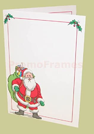 Amazon.com - SANTA FOLDER WHITE 4x6 Paper Picture Frames - Holiday ...