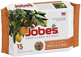 product image for Jobe's 01612 15 Pack, 9-12-12, Fruit & Citrus Tree Spikes - Quantity 9 Packages